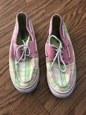 Sz 7 1/2 Woman's Plaid 'Sperry top Sider' Shoes