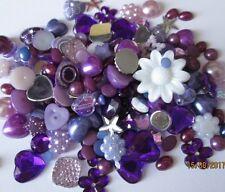 Mezcla de cabujón Surtidos 10g Resina Dorso duro para Libros de Acrílico Joya Perlas tonos Etc-Púrpura
