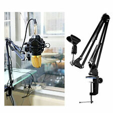 Mic Boom Suspension Arm clip Stand for Studio 3/8'' 5/8'' Pop Spider Microphone