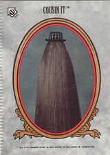 1991 TOPPS THE ADDAMS FAMILY ERROR STICKER CARD CRIMPED IMPRINT #11 COUSIN IT