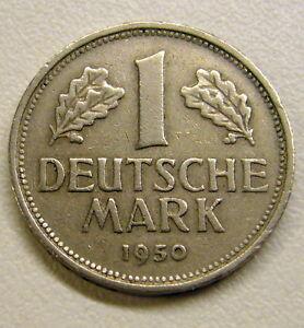 1950 F or G Germany 1 Deutsche Mark Coin Ur choice of 1