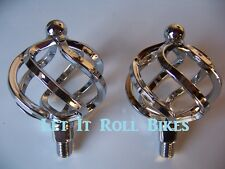 "NEW BICYCLE TWISTED CAGED PEDALS 1/2"" BIKES CYCLING!"