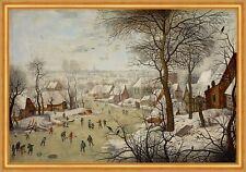 Winter Landscape with Bird-trap Pieter Brueghel der Jüngere Eis Stadt B A2 03123