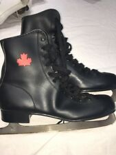 Figure Ice Skates Black Size 11 Us Canadian Logo