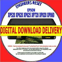 EPSON XP520 XP620 XP625 XP720 XP820/860 WASTE INK COUNTER RESET DOWNLOAD DELIVER