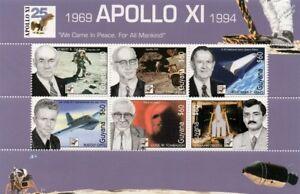 APOLLO XI / NASA Engineers / Robert Gilruth Space Stamp Sheet (1994 Guyana)