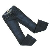 Paige Hollywood Hills Classic Rise Boot Jeans Women Sz 27 (28 x 32.5) Dark Denim