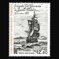 "TAAF 1985 - ""La Novara"" (Frigate) at Saint Paul (after J. Noel) - Sc C87 MNH"