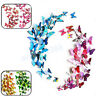 12 pcs DIY 3D Butterfly Wall Stickers PVC Art Decal Home Room Decorations Decor