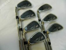 New LH Callaway X2 Hot Pro Iron set 4-PW Project X 5.5 Flighted 95 steel irons