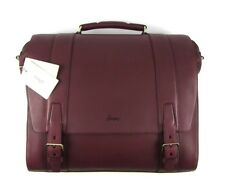 $3995 NWT BRIONI Merlot Red Leather Satchel Large Carryall Briefcase Attache Bag