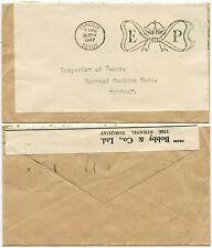 GB OFFICIAL 1947 ROYAL WEDDING MACHINE CANCEL TORQUAY DEVON BOBBY + CO