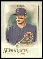 2020 Topps Allen and Ginter Base #86 Anthony Rizzo - Chicago Cubs