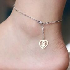 Bracelet for Women Stainless Steel Silver Heart Bunny Anklet Playboy Ankle