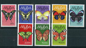Aruba Butterflies Stamps 2016 MNH Butterfly Insects Vlinders 8v Set