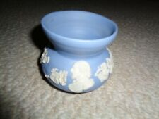 Blue jasperware wedgwood prototype small flower vase Queen elizabeth Ii past kin