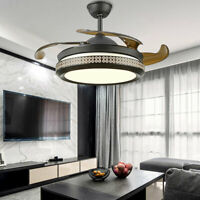 """42"""" Modern Remote Ceiling Fan with LED Light Invisible Fan Chandelier Dimmable"""