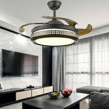 "42"" Modern Remote Ceiling Fan with LED Light Invisible Fan Chandelier Dimmable"