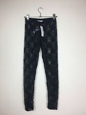 Black Lace Leggings New Look Girls Teen BNWT Size 6 Clubbing Party Evening (F)