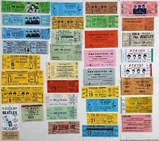 Reproduction CONCERT TICKETS : THE BEATLES - 1960's Bulk Mixed Lot of 35
