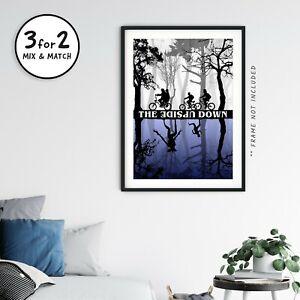 Stranger Things Upside Down Poster, 100% Cotton Demogorgon Wall Art Print