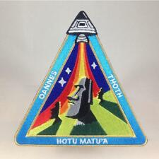 Easter Island Outpost - Ancient Astronaut Mission Patch Alien NASA Space Moai