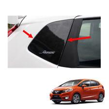 Exterior Rear Door Pillar Post Carbon Black 2Pc For Honda Jazz Fit GK5 2014 - 17