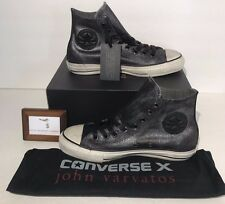CONVERSE X JOHN VARVATOS WOMENS SIZE 8.5 CT HI SILVER BLACK SNEAKERS NEW