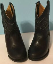 Smoky Mountains Black Cowboy Western Boots Youth Size 7