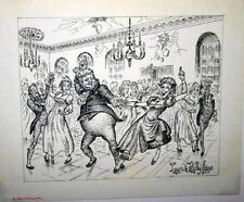 KELLY FREAS DRAWING REGENCY DANCE LINE ORIGINAL