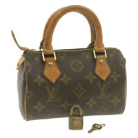 LOUIS VUITTON Monogram Mini Speedy Hand Bag M41534 LV Auth ki660