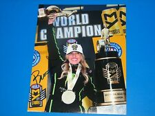 BRITTANY FORCE NHRA DRIIVER SIGNED 8X10 PHOTO coa COURTNEY FORCE JOHN FORCE