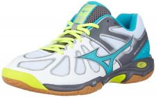 Mizuno Badminton shoes WAVE SMASH LO4 71GA1860 White × Turquoise × Yellow
