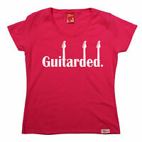 Guitarded WOMENS Banned Member T-SHIRT tee birthday gift electric guitar music