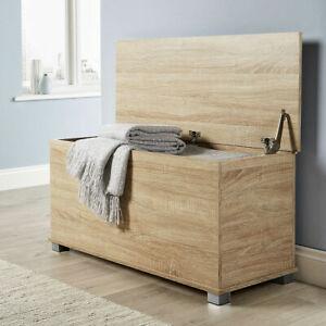 Storage Chest oak Toy Chest Bedding Blanket Box Wooden Large