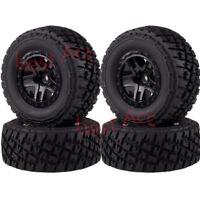 1/10 RC 4PCS Wheel Rims & Tyres Tires 106mm 1182-17A For Traxxas Slash 4x4 Truck