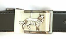 Alsation German Shepherd Belt Buckle and Leather Belt in Gift Tin Ideal Present