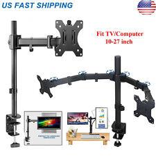 Single /Dual Arm Monitor Desk Mount Computer TV Screen Bracket Stand 13-27''