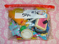 Mattel Barbie Doll Accessory Lot GRAB BAG of 50 pc ACCESSORIES Dreamhouse LOT #1