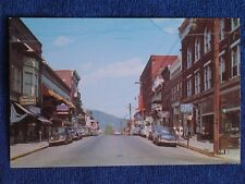 Bedford PA/Main Street-U S Route 30/1940s-1950s Cars/Chrome Postcard/Unposted
