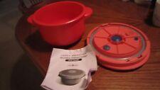 Cook's Essentials Microwave Pressure Cooker 3 Qt. Orange Guide