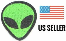 "ALIEN UFO HEAD PATCH GREEN 2"" x 1.75"" - USA SELLER (GB-4)"