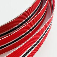 "1Yard 1""  25mm Merry Christmas Red Grosgrain Ribbon Appliques Craft Gift Dec"