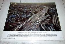 PHOTO ECOLE 1966 GEOGRAPHIE ETATS UNIS AUTOROUTE LOS ANGELES L.A.