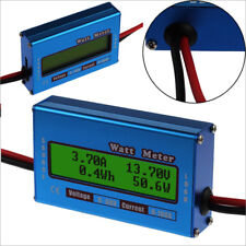 DC combo Meter Digital  LCD Watt Power Volt Amp RC Battery charging Analy QA