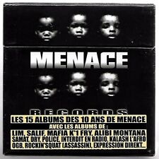 15 CD RAP FRANCAIS COFFRET COLLECTOR MENACE RECORDS NEUF (LIM,MAFIA K'1 FRY,OGB)