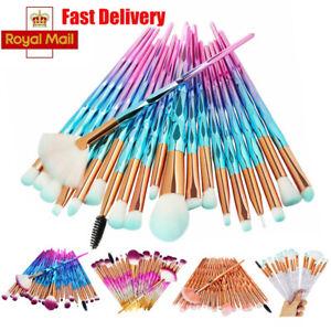 20pcs Diamond Make Up Brushes Unicorn Blusher Face Powder Eyeshadow Brushes UK