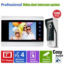 """7"""" LCD Video Doorbell Door Phone HD Security Camera Door Access Control Intercom"""