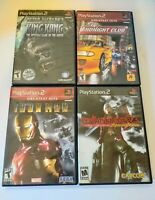 Lot Of 4 Ps2 Games Devil May Cry 3, Midnight Club Street Racing, Iron Man, Kong