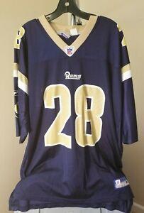 Saint Louis Rams NFL Reebok Vintage Blue Marshall Faulk #28 XL Jersey